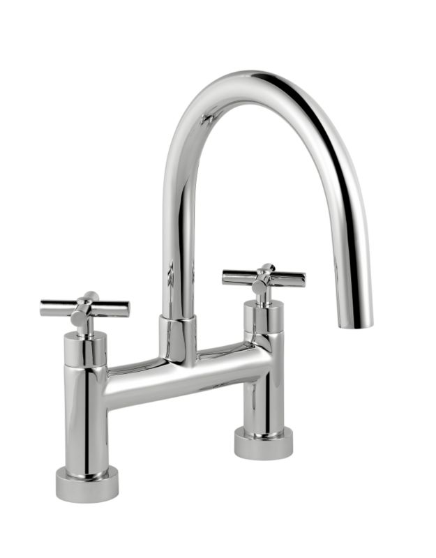 Quattre Bath Filler Chrome
