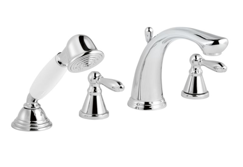 Timeless 4 Tap Hole Bath Shower Mixer Chrome Effect