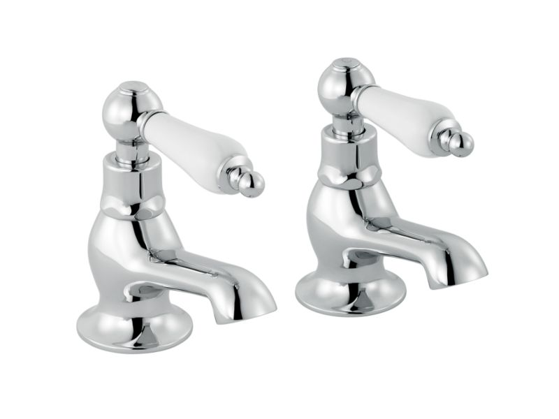 Timeless Ceramic Bath Taps Chrome Effect