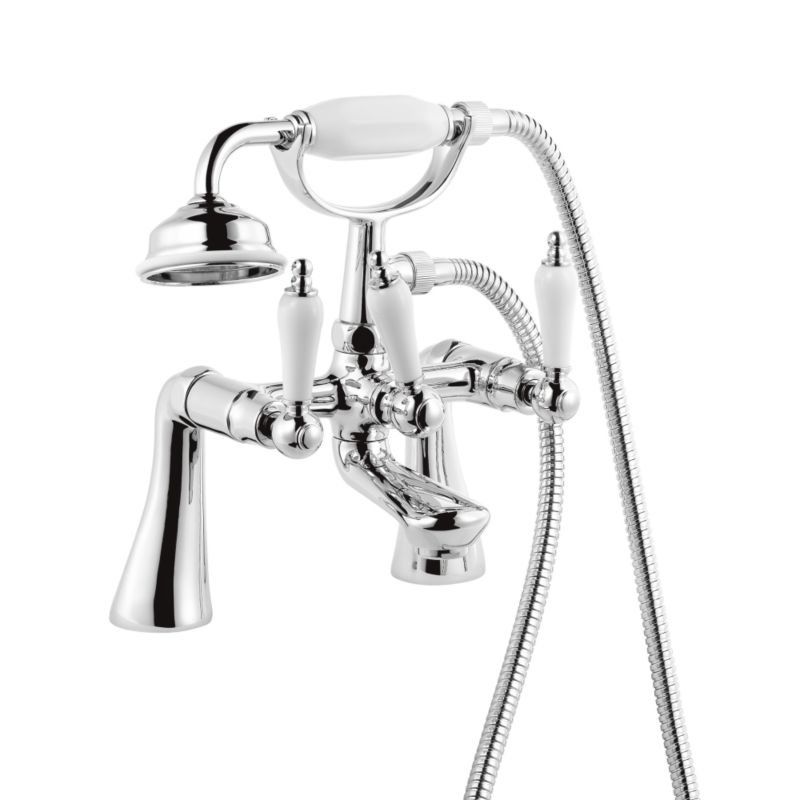 Timeless Ceramic Bath Shower Mixer Chrome Effect