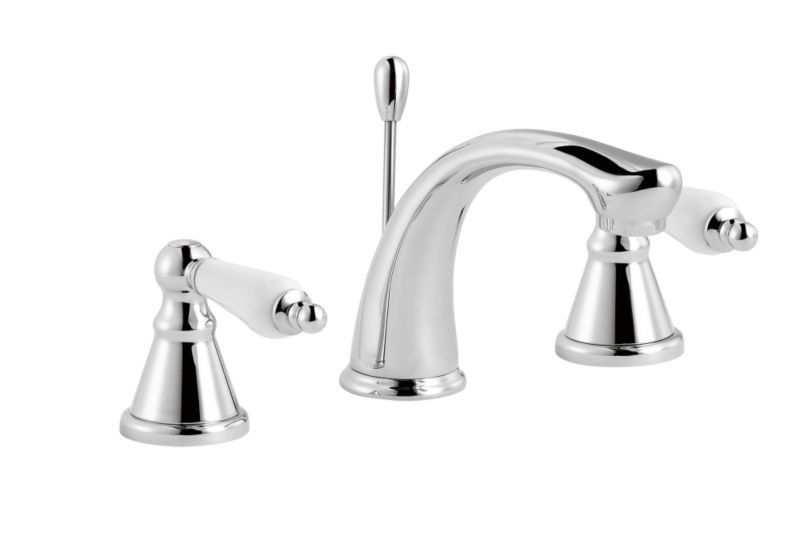 Timeless Ceramic 3 Tap Hole Basin Mixer Chrome Effect