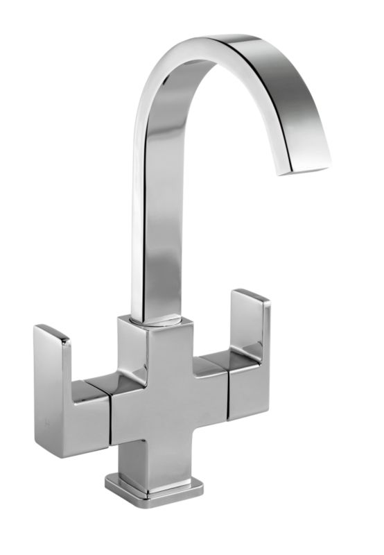 Linear Basin Mixer Chrome Effect