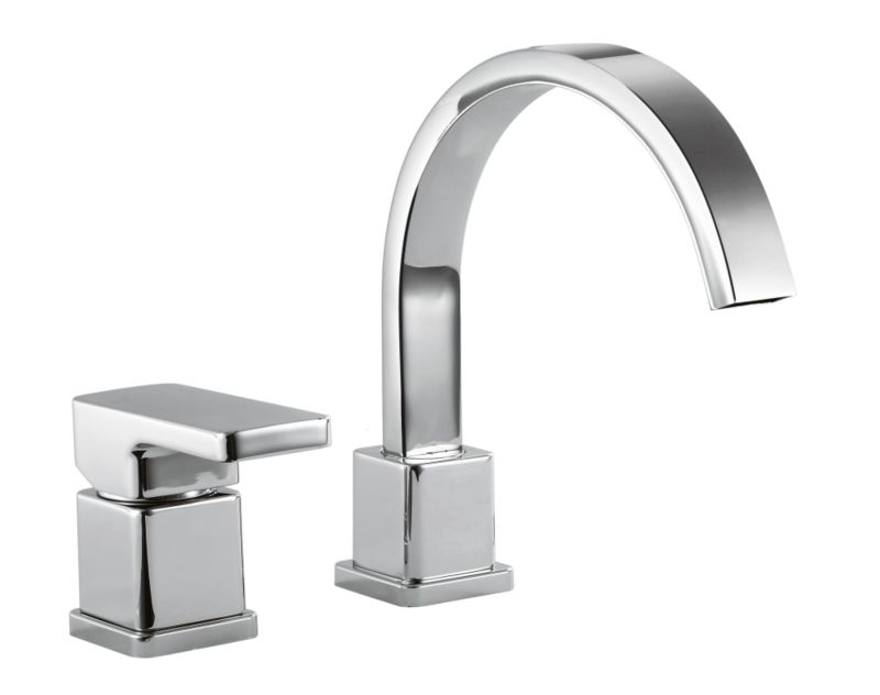Linear 2 Tap Hole Bath Filler Chrome Effect