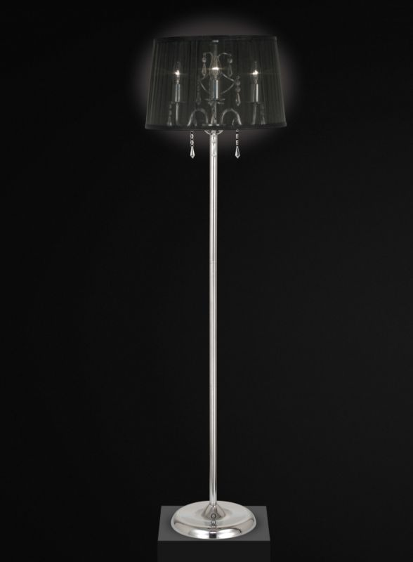 Compton 3 Light Floor Lamp With Voile Shade
