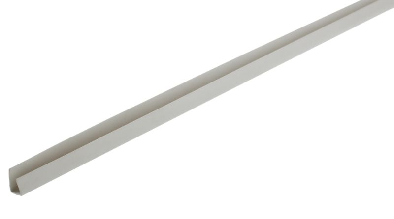 B and Q PVCU End Bead Artelam Grey (L)2400 x (W)25 x (T)10mm