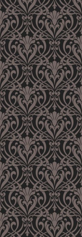 Colours by BandQ Nouveau Wallcovering Black and