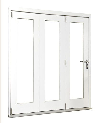 Wellington Softwood Fully Finished Reversible Sliding Folding Patio Door White BQWELL18SW Fits brickwork opening (H)2105 x (W)1805mm