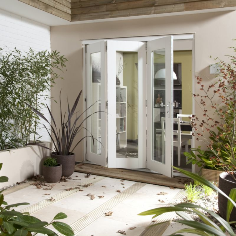 B&Q Wellington Fully Finished Sliding Folding Patio Doorset - Brickwork Opening (H)2105 x (W)1805mm