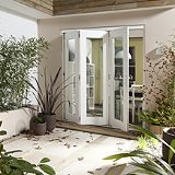Save on this B&Q Wellington Fully Finished Sliding Folding Patio Doorset - Brickwork Opening (H)2105 x (W)1805mm