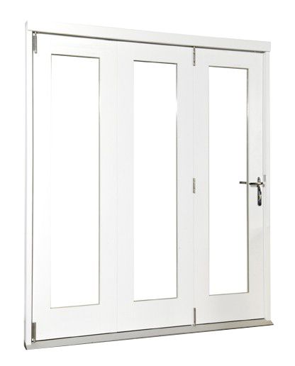 Wellington Softwood Fully Finished Reversible Sliding Folding Patio Door White BQWELL21SW Fits brickwork opening (H)2105 x (W)2105mm