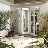 Save on this B&Q Wellington Fully Finished Sliding Folding Patio Doorset - Brickwork Opening (H)2105 x (W)2405mm