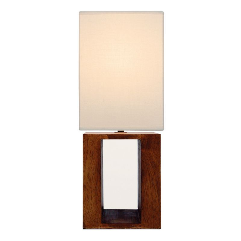 Lights By BandQ Boston Block Wood Table Lamp
