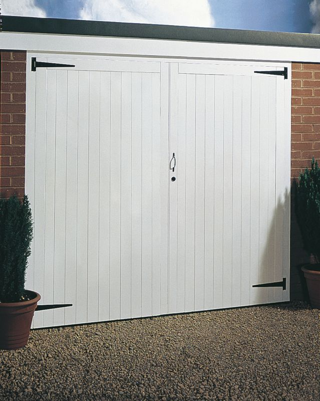Side Hung Timber Garage Door Pair 2134 x 2134mm