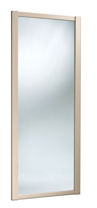 Mirrored Sliding Wardrobe Door Maple Style