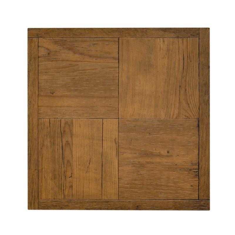 B&Q Select Large Self Adhesive Vinyl Tile Antique Oak Block Effect (W) 406 X (L) 406mm Pack Of 6