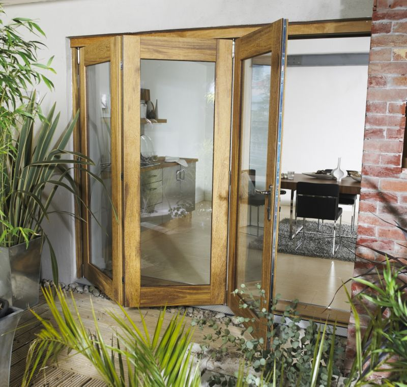 B&Q Wellington Hardwood Sliding Folding Patio Doorset - Brickwork Opening (H)2105 x (W)1805mm