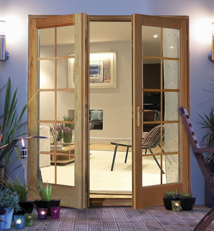 Rio Hardwood 10 Light Glazed French Door Set 1800mm BQRIO18PSC