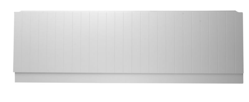 B&Q Tongue And Groove Effect MDF Front Panel White