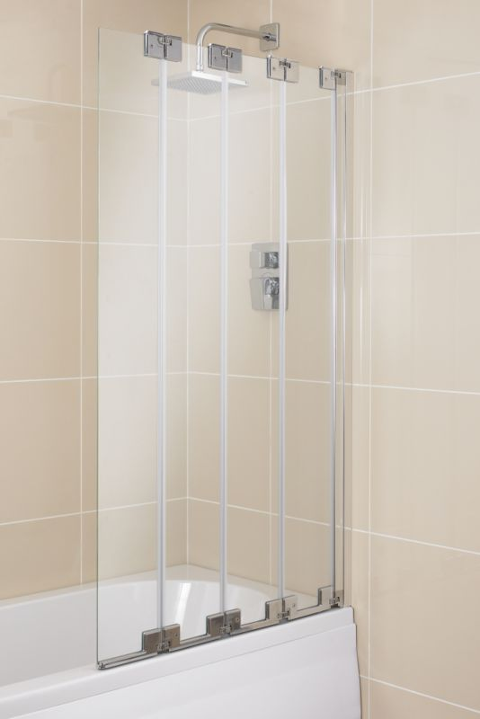 Cooke & Lewis Frameless Four Fold Bath Screen
