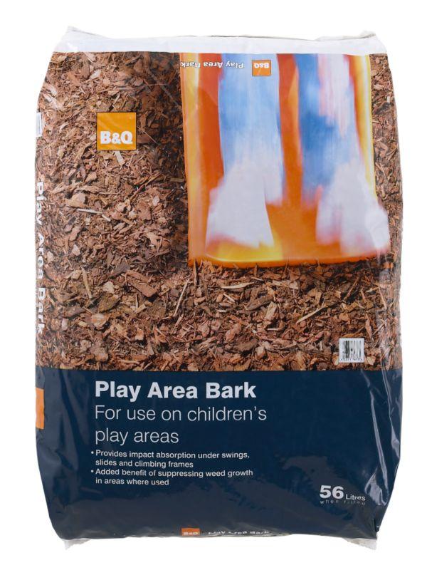 B&Q Play Area Bark 56L