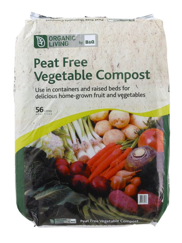 B&Q Organic Living Vegetable Compost 56 Litres