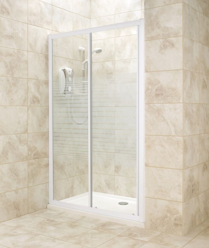 B q sliding shower door only whiteframe striped glass for 1200mm shower door sliding