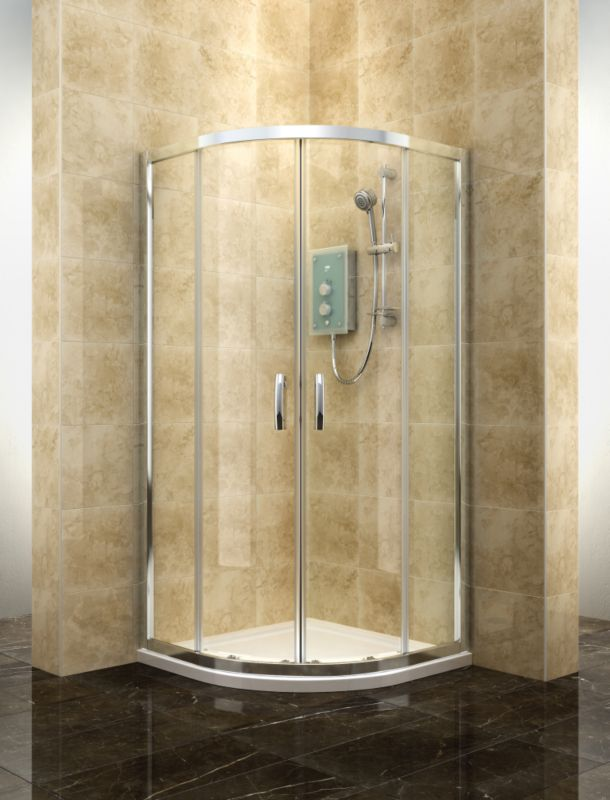 Cooke and Lewis Deluvio Quadrant Shower Enclosure (H)19 x (W)9 x (D)9mm