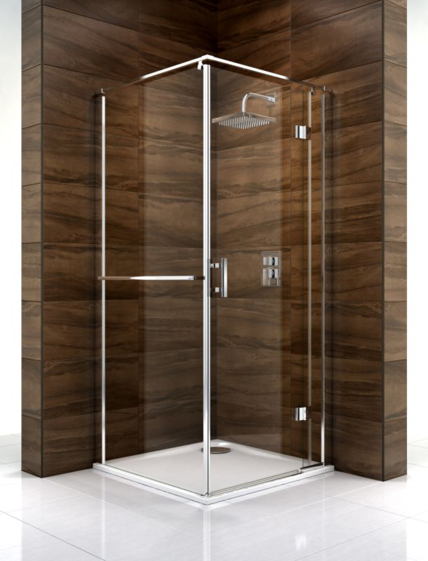 Cooke & Lewis Cascata Pivot Door Shower Enclosure (H)1995 x (W)760 x (D)760mm