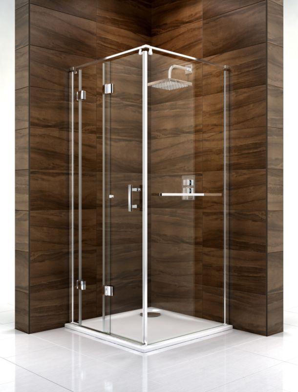 Cooke & Lewis Cascata Bi-Fold Door Shower Enclosure (H)1995 x (W)800 x (D)800mm