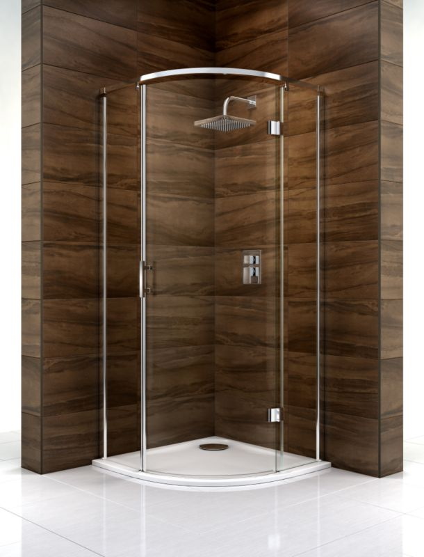 Cooke & Lewis Cascata Quadrant Shower Enclosure (H)1995 x (W)800 x (D)800mm Clear Glass