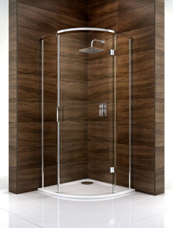 Cooke & Lewis Cascata Quadrant Shower Enclosure (H)1995 x (W)900 x (D)900mm Clear Glass