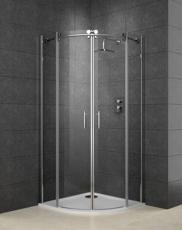 Cooke & Lewis Eclipse Quadrant Shower Enclosure With Double Sliding Door (H)2000 x (W)900 x (D)900mm