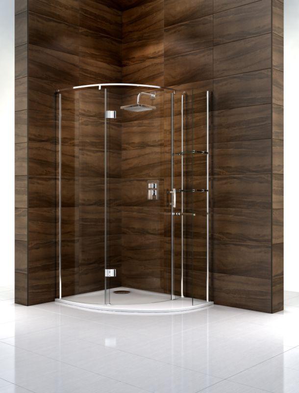 Cooke & Lewis Cascata Off-Set Quadrant Shower Enclosure With Shelves (H)1995 x (W)1200 x (D)900mm