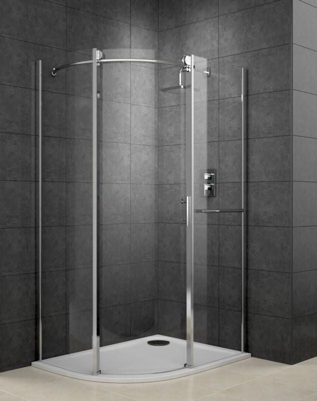 Cooke & Lewis Eclipse Left Handed Off-Set Quadrant Shower Enclosure With Single Sliding Door (H)2000 x (W)1200 x (D)900mm