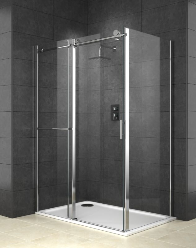 Cooke & Lewis Eclipse Rectangular Shower Enclosure With Sliding Door (H)2000 x (W)1400 x (D)900mm