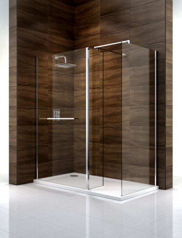 Cooke & Lewis Cascata Walk-In Shower Enclosure (H)1995 x (W)1400 x (D)900mm