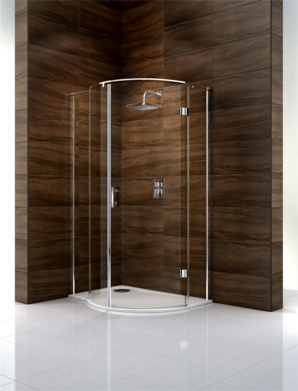 Cooke & Lewis Cascata P-Shaped Left Handed Shower Enclosure (H)1995 x (W)1200 x (D)900mm