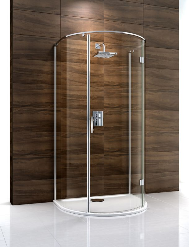 Cooke & Lewis Cascata D-Shaped Shower Enclosure (H)1995 x (W)1100 x (D)900mm
