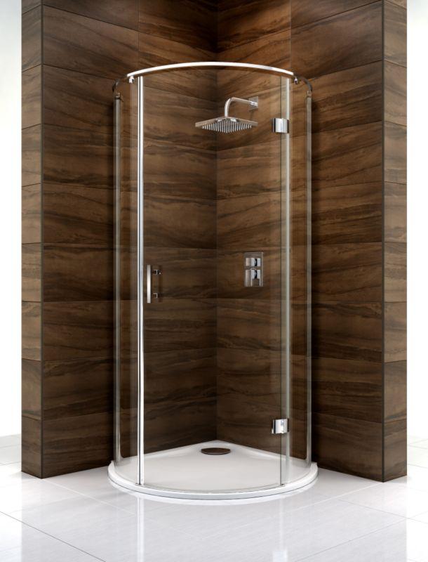 Cooke & Lewis Cascata Circular Shower Enclosure (H)1995 x (W)1000 x (D)1000mm