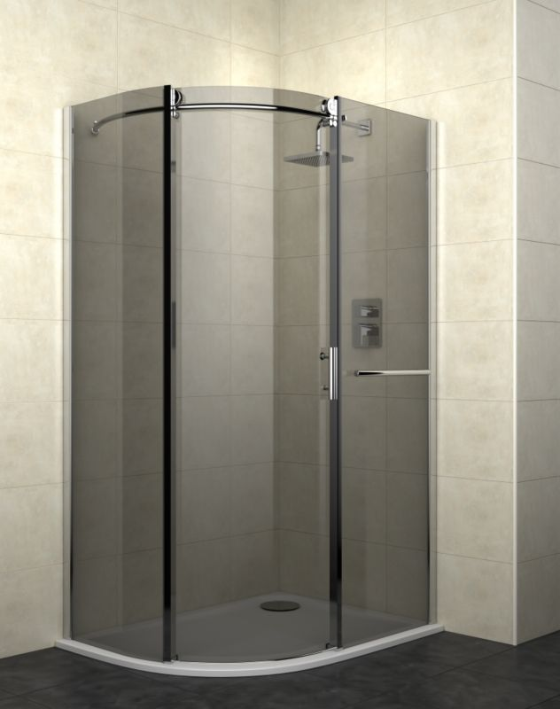 Cooke & Lewis Eclipse Left Handed Off-Set Quadrant Shower Enclosure (H)2000 x (W)1200 x (D)900mm