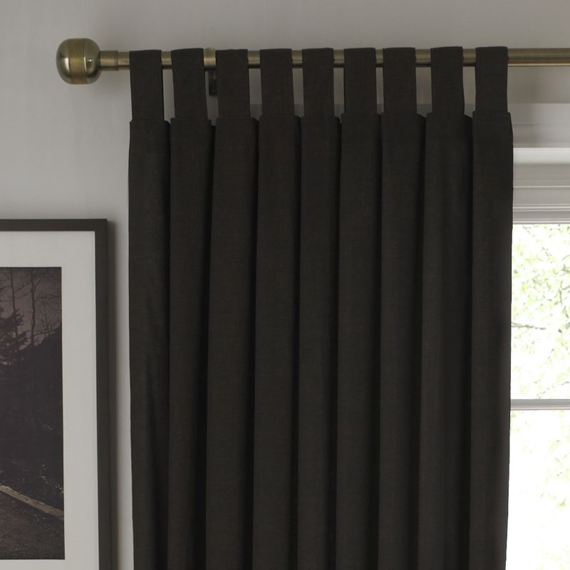 BandQ Tab Top Unlined Curtains Chocolate