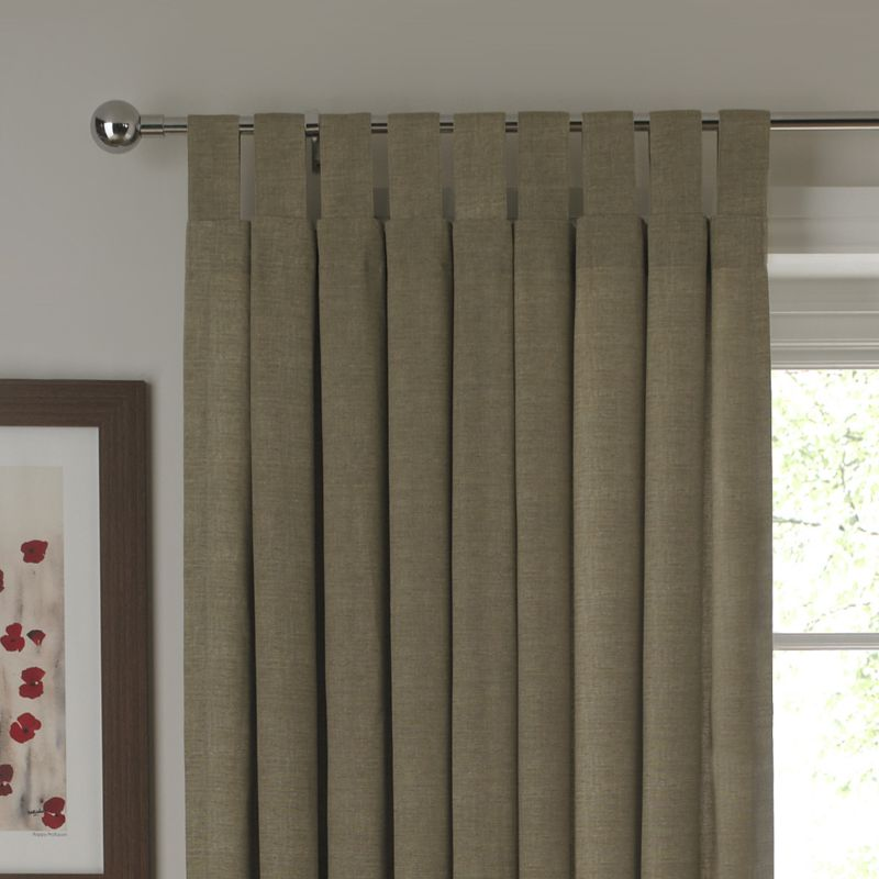BandQ Tab Top Unlined Curtains Linen Effect