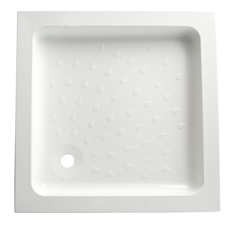 Cast Stone Square Shower Tray (W)760 x (D)760mm