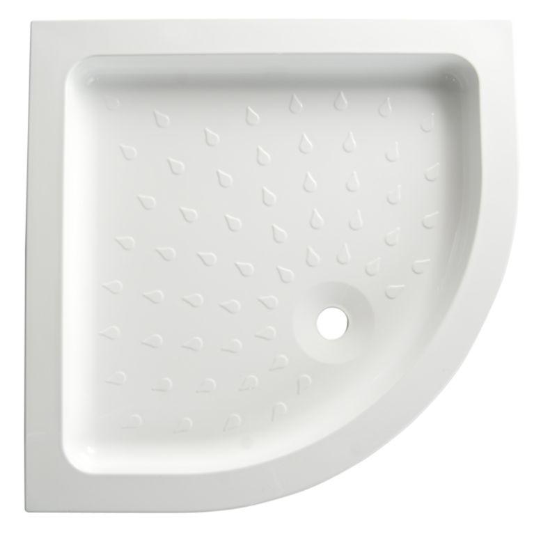 Cast Stone Quadrant Shower Tray (W)800mm x