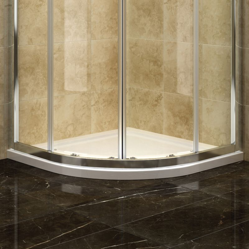 Deluvio Low Profile Stone Quadrant Shower Tray