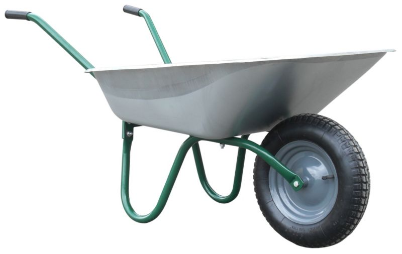 B&Q Value Green Wheelbarrow