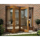 Save on this B&Q Oak Veneer Sliding Folding Patio Doorset - Brickwork Opening (H)2105 x (W)2405mm