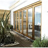 Save on this B&Q Oak Veneer Sliding Folding Patio Doorset - Brickwork Opening (H)2105 x (W)3005mm
