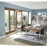 Save on this B&Q Folding Sliding Patio Doorset Oak 480.5cm (W)