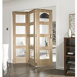 Save on this B&Q 6 Door Room Divider - 4 Light Glazed Oak 366cm (W)